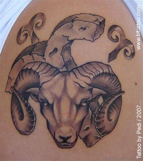 41 wonderful aries shoulder tattoos