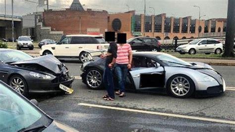 bugatti crash for aston martin crashes into bugatti veyron in expensive