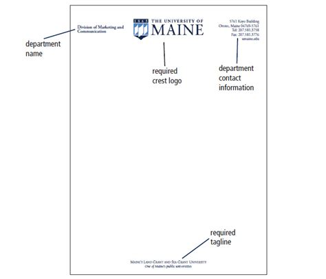 Official Letterhead School Umaine Letterhead Envelopes Business Cards Printing And Mailing Services Of Maine