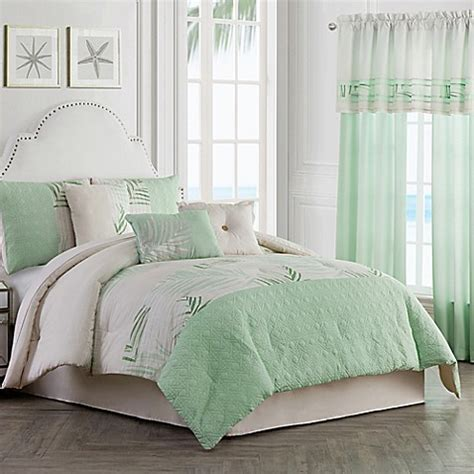 green full comforter set buy palm light 7 piece full comforter set in green from