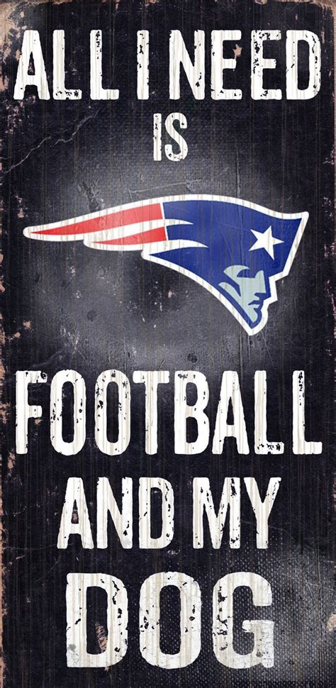 Home Design Outlet Center Reviews New England Patriots Football Amp Dog Wood Sign