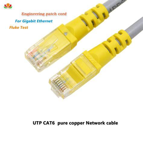 Promo Kabel Lan 5 Meter Nyk Cat 6 Utp 5 M Lan 5m 0 25m 0 5m 1m 2m 3m utp cat6 cable rj45 network patch cords copper wires lan line for gigabit
