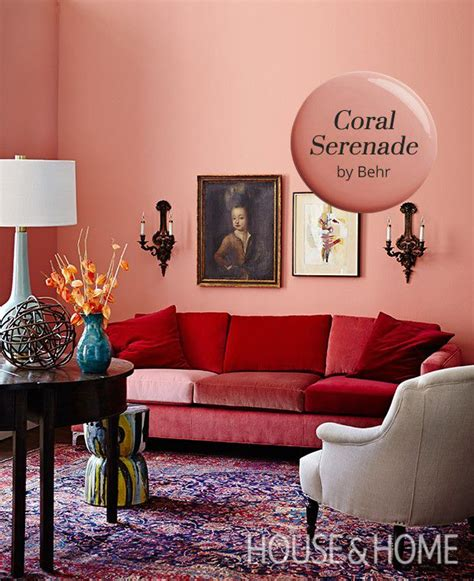 coral serenade by behr is our paint color pick favorite
