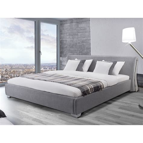 doppelbett 160x200 contemporary grey upholstered bed frame 163 429 99
