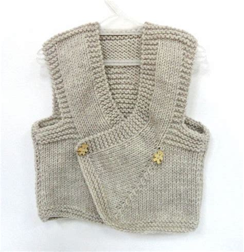 baby boy knitted vest baby boy vest knit baby sweather beige knitted by