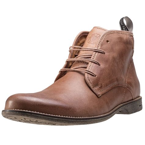 sneaky steve slayer mens chukka boots in beige