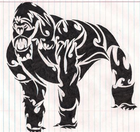 gorilla tribal tattoo tribal gorilla