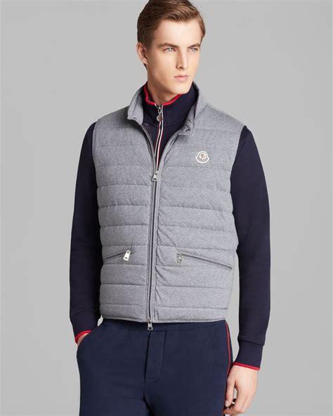 Vest Grey lyst moncler gerard vest in gray for