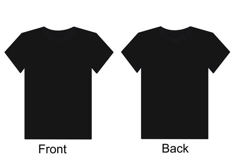View T Shirt Template Black T Shirt Template