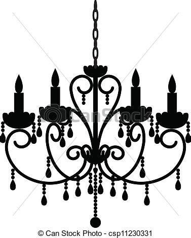 Kronleuchter Gezeichnet by Silhouette Of Antique Chandelier Vectors Search Clip