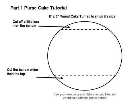 purse cake template templates pinterest