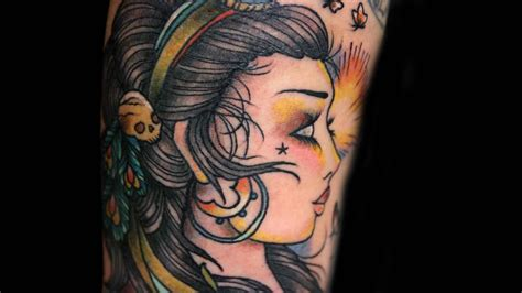 gypsy head tattoo tattoos designs ideas and meaning tattoos for you