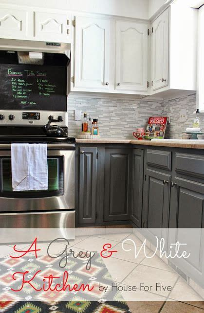 grey and white kitchen reveal could work for the color on our cabinets like backsplash