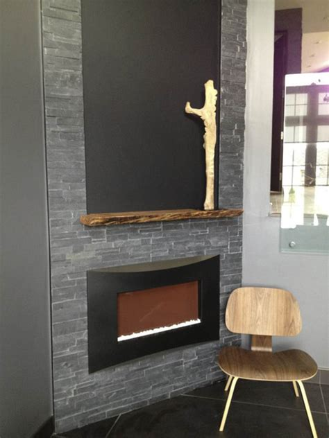 Solid Wood Live Edge Reclaimed Mantle   Modern   Fireplace
