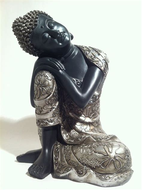 home decor statue sleeping sitting buddha statue asian home decor zen