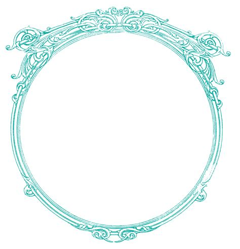 vintage clip art french label anchor round frame vintage images round ornate frames the graphics fairy