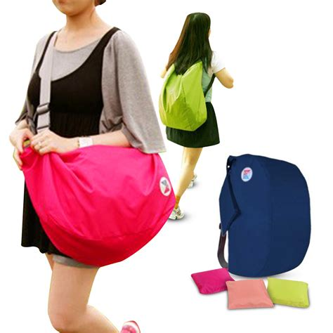 Kalibre Ransel Foldable Lipat 931052 iconic 3 way foldable bag with carrying pouch 4 warna