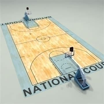 National Judiciary Search National Official Basketball Court 3d Model Basketball 3ds Max C4d Ma Mb Pz3 Pp2 Obj