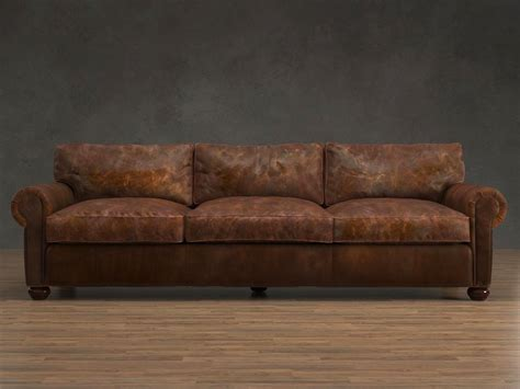restoration hardware couches leather 96 quot lancaster leather sofa 3d model restoration hardware