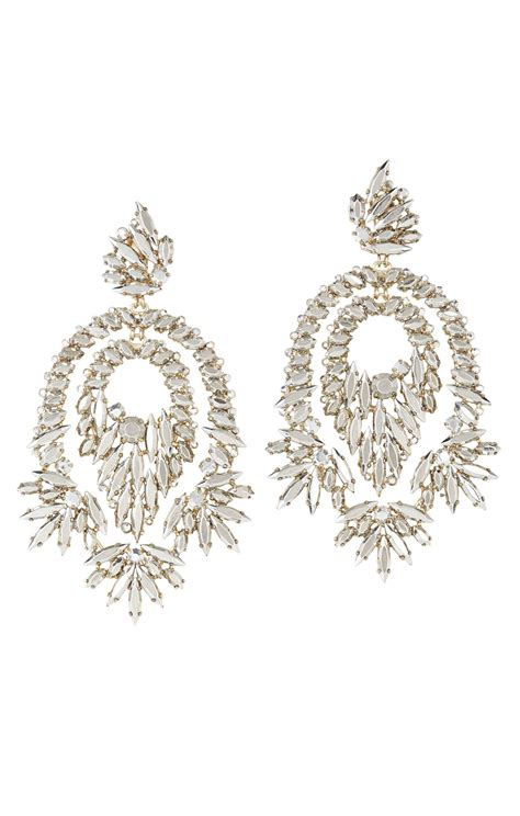 Metallic Earring bcbgmaxazria metallic statement earrings in gold