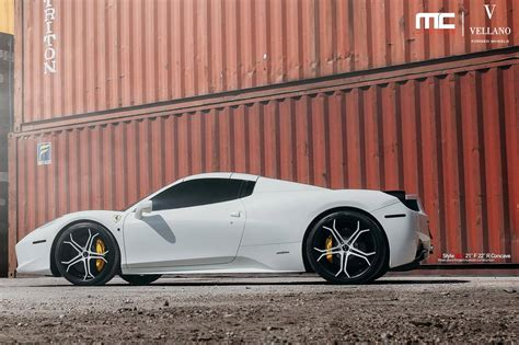 wheels ferrari white ferrari 458 spider with colour matched vellano
