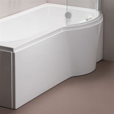 bathtub panel pura arco right hand 1500mm shower bath side panel