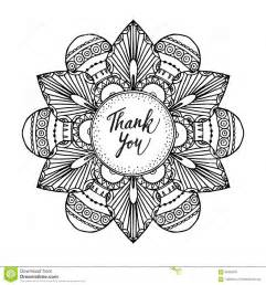 ornamental greeting card hand drawn zentangle inspired mandala text art
