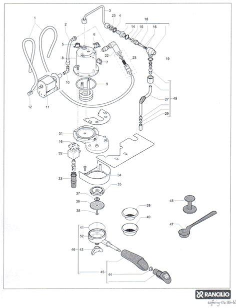 rancilio parts diagram rancilio v3 parts rancilio home espresso machine