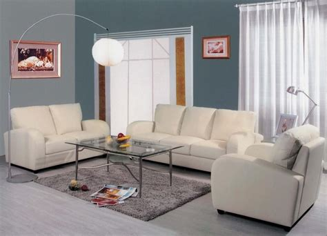 White Living Room Furniture Sets by 20 Best Collection Of White Leather Sofa And Loveseat