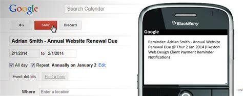 Google Calendar Darren S Small Biz Tools Payment Reminder Sms Template