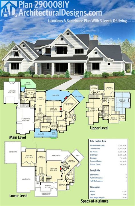 architectural designs luxury house plans the 25 best 6 bedroom house plans ideas on pinterest 6 bedroom house house