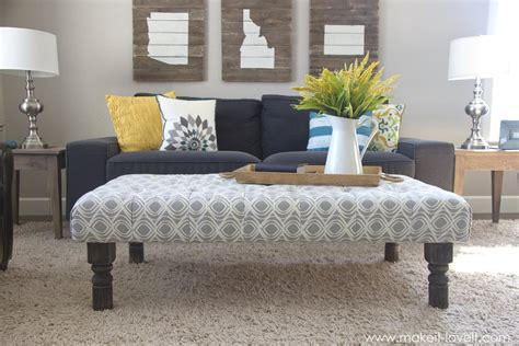 how to an ottoman from scratch coffee tables ideas diy coffee table ottoman design ideas