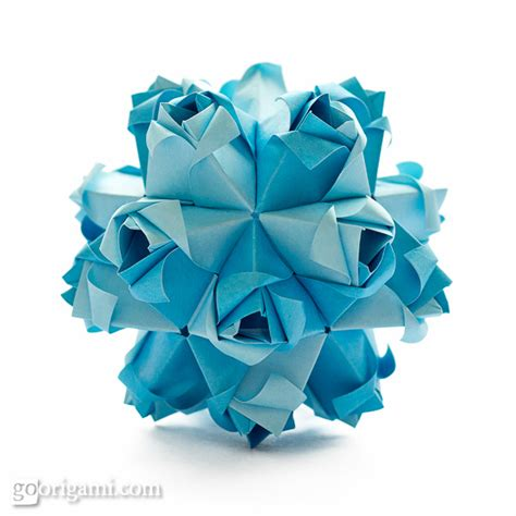 Origami Kusudama - roses kusudama diagram