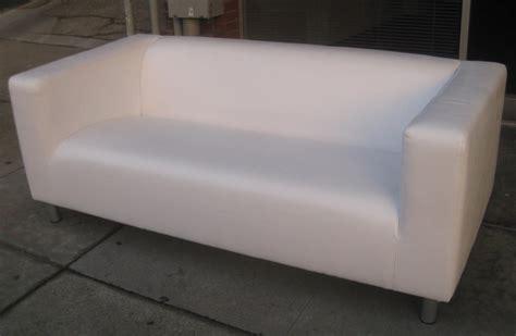 White Leather Ottoman Ikea Ikea White Leather Sofa Smalltowndjs