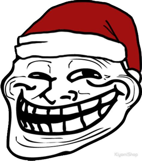 quot christmas troll face meme quot stickers by kiyomishop