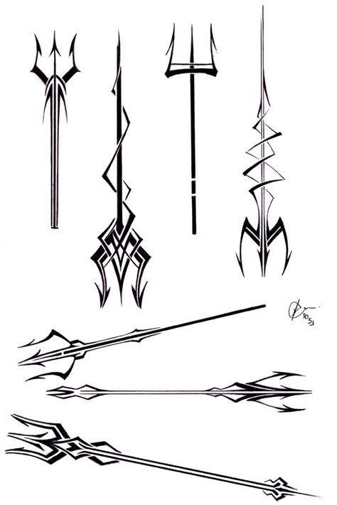 trident tattoo designs trident tattoos by bygon on deviantart