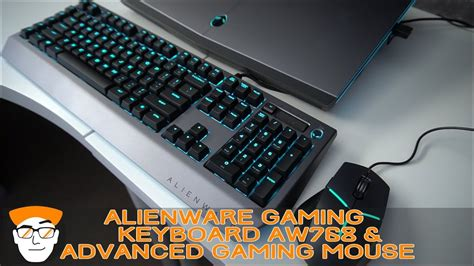 alienware mechanical pro gaming keyboard aw768 and the advanced gaming mouse aw558