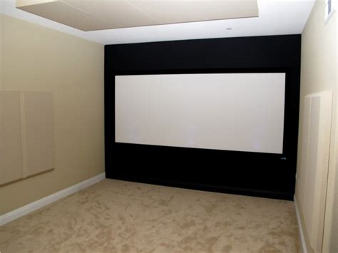 home theater screen wall design april s project a kick dedicated home theater for an