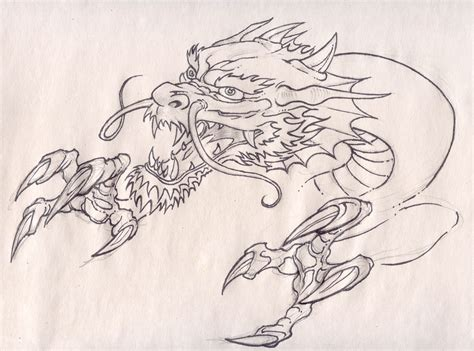 dragon head tattoo design and claws by pancho villa on deviantart