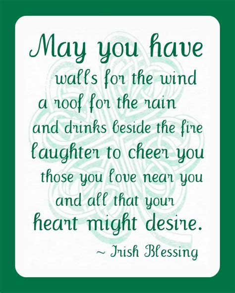 printable irish quotes st patrick s day irish blessing printable st patrick