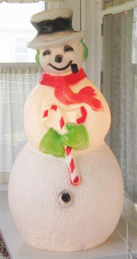 vintage large lighted blow snowman 630 best images about mold on decorations reindeer and yard decorations