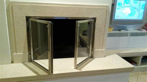 camini acciaio inox sportelli per camino in acciaio inox con vetro temperato a