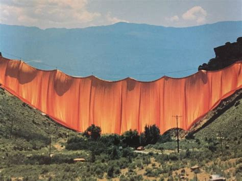 valley curtain christo javacheff christo valley curtain photograph for sale at 1stdibs