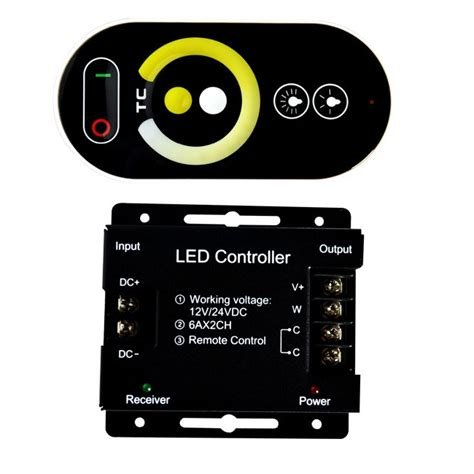 Terlaris Led Controller Dc 5 24v Max 6a Tanpa Remote Keren Gaaul Awet dc12 24v 6a 2ch led rf touch dimmer remote controller for