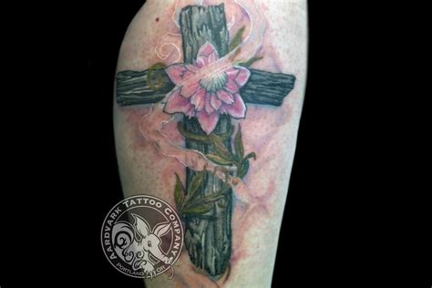 pink cross tattoo 25 amazing cross tattoos me now