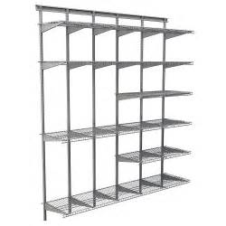 Closetmaid Wire Shelving Kits Closetmaid Max Load Garage 6 Ft X 16 In Satin Chrome