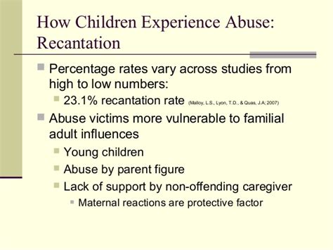 section 8 abuse child sexual abuse