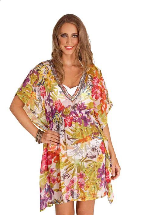 8 Cover Ups by Womens Chiffon Kaftan Floral Beachwear Cover Up