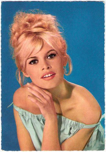 hairy sixties european film star postcards brigitte bardot