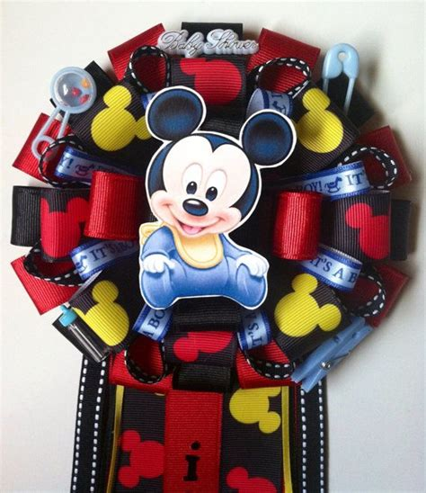 Mickey Mouse Baby Shower Items by Mickey Mouse Baby Shower Corsage On Etsy 25 00 Baby